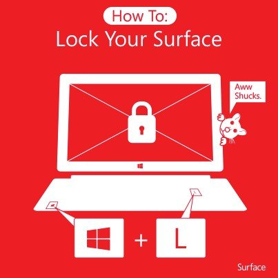 Lock Your Surface - Photo credit to Microsoft