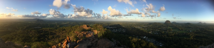Panoramic view from the summit of Mt Ngungun